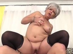 Sexy and hot mature sluts enjoy their mature pussies getting fucked in cowgirl positions, Mature videos