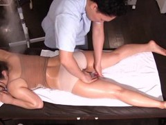 Horny japanese babe mizusawa riko gets fingered during massage videos