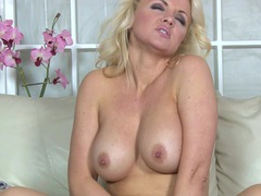 Sexy blonde solo model frankie opens her legs to masturbate, Solo Models, Masturbation, Blondes, Long Hair, Thong, Big Tits, Fake Tits, High Heels, Toys, Pussy, Pornstars, MILF videos