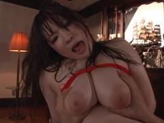 Busty japanese chick saegusa chitose rides a large manhood videos