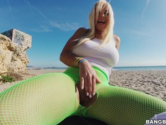 Wild outdoors fucking on the beach with fake boobs blondie fesser, Couple, Hardcore, Outdoor, Reality, Beach, Lingerie, Pantyhose, Fishnet, Fingering, Long Hair, Blondes, Big Tits, Fake Tits, Blowjob videos