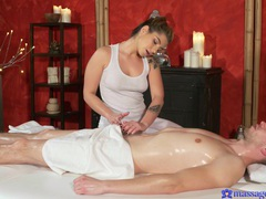 Nice back massage leads to smooth fucking on the massage table, Couple, Hardcore, Massage, Tattoo, Oiled, Handjob, Blowjob, Cowgirl, Hot Ass, Natural Tits, Pussy, Cumshot videos