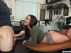 Hardcore fucking on the office table with desirable brittany shae, Couple, Hardcore, Reality, Casting, Office, Brunettes, Long Hair, Blowjob, Handjob, Doggystyle, Missionary, High Heels videos