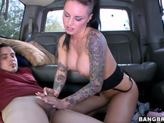 Tattooed street hooker christy mack rides a stranger in the car, Couple, Hardcore, Reality, Car Fucking, Brunettes, Long Hair, Tattoo, Big Tits, Fake Tits, Shorts, Cowgirl, Blowjob, Handjob, Clothed Sex videos