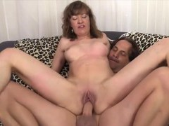 Sexy n horny old women enjoy taking hard dicks in pussy and getting fucked in cowgirl position, Mature movies