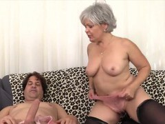 Sexy old women enjoy taking hard dicks in mouth and perform amazing blowjobs, Mature videos