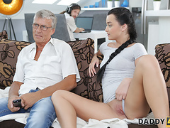 Daddy4k. old guy still in great shape to fuck son's gf, Blowjob, Brunette, Teen (18+), Old &,  Young, HD Videos, 18 Year Old, Teen (18+) Sex, Shaved Pussy, Teen (18+) Blowjob, Small Boobs, Caught Having Sex, European, Old Young Sex, Old Guy, Dad, movies at kilopills.com