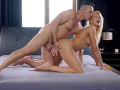 Gentle blowjob wakes him up and leads to amazing sex - cherry kiss, Couple, Hardcore, Blondes, Long Hair, Panties, Natural Tits, Hot Ass, Blowjob, Pussy Licking, Missionary, Pussy, Shaved Pussy, Doggystyle, Babes videos