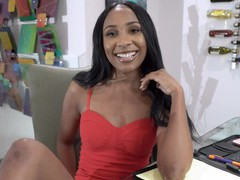 Ebony amateur olivia jayy opens her legs to be fucked by a white man, HD POV, Couple, Hardcore, Interracial, Ebony, Long Hair, Thong, Cowgirl, Natural Tits, Missionary, Pussy, Cumshot, Facial movies at find-best-videos.com