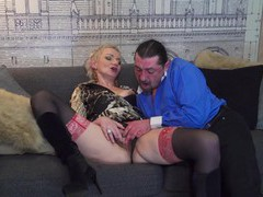 Horny mature wife elena enjoys riding his stiff dick on the sofa, Mature, Short Hair movies at find-best-videos.com