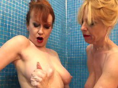 Red and lucy fuck their toys in the shower, Mature, Mature Lesbian movies at find-best-videos.com