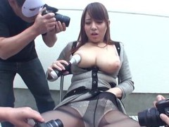 Busty japanese babe mishima natsuko gets pleasured by couple of guys movies at freekiloclips.com