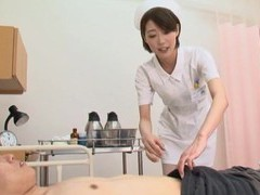 Kinky asian nurse makoto yuuki pleasures a large dick with a bj movies at freekilomovies.com
