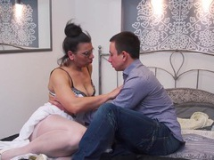 Video of a younger dude fucking dirty mature slut nyiri on the bed, Mature, Granny movies at freekilomovies.com