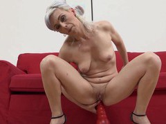 Small tits granny kathy white gets fucked in all holes by a bbc, Mature, Granny videos