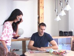 Quickie fucking on the table with skinny german mature mandy, Mature, German movies at kilovideos.com