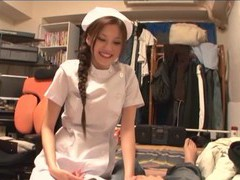 Lucky man gets his dick pleasured by seductive nurse ameri ichinose, Couple, Hardcore, Uniform, Nurses, Long Hair, Handjob, Pussy Licking, Blowjob, Lingerie, Pantyhose, Nylon, Thong, Clothed Sex movies at freekilomovies.com