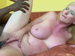 Dirty mature monika wipper gets her ass poked by a black dude, Mature videos