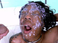 The guys stretch her throat to the maximum then piss all over her, Hardcore, Interracial, Ebony, Face Fucking, Rough, Deepthroat, Swallow, Natural Tits, Panties, Fetish, Pissing, Piss Drinking videos