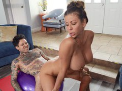 Tattooed dude with a large dick fucks horny milf alexis fawx, Couple, Hardcore, Sport, Pornstars, MILF, Shorts, Blowjob, Pussy Licking, Big Tits, Fake Tits, Missionary, Doggystyle movies at freekiloporn.com