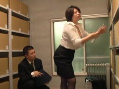Pretty japanese chick gets her pussy licked and fucked in the office movies