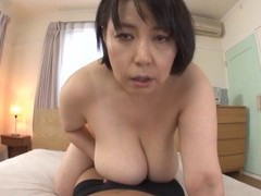 Chubby japanese mature misuzu tomizawa knows how to give a titjob movies