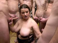 Lot of dudes team up to fuck big butt german granny iveta, Mature movies at kilomatures.com