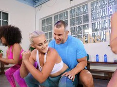 Hardcore ffm threesome after working out with chloe and indica, Threesome, FFM, Hardcore, Pornstars, Sport, Pussy Licking, Cowgirl, Natural Tits, Tattoo, Doggystyle, Fingering movies at freekilosex.com