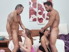Compilation of best foursome scenes with stunning pornstars, Hardcore, Pornstars, Compilations movies at kilomatures.com