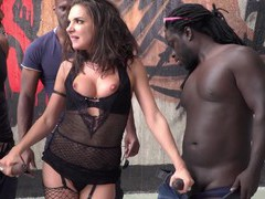 Hardcore interracial gangbang with cum loving slut henessy, Hardcore, Gangbang, Interracial, Pornstars, Brunettes, Lingerie, Stockings, Fishnet, Natural Tits, Handjob, Blowjob, Doggystyle, Big Black Cock, Big Cocks movies