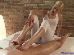 Handsome blonde uma pleasures stiff dick of her horny client, Couple, Hardcore, Blondes, Massage, Oiled, Handjob, Hot Ass, Pussy Licking, Blowjob, Fetish, Foot Fetish, Clothed Sex, Old and Young videos
