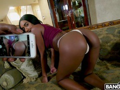 Hot ass ebony girlfriend ashley aleigh spreads her legs for fucking, Couple, Hardcore, Ebony, Long Hair, Thong, Black Butt, Fingering, Blowjob, Doggystyle, Cowgirl, Natural Tits, Pussy, Shaved Pussy, Missionary videos
