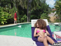 Skinny ebony babe cecilia lion masturbates in outdoors and gets dicked, Couple, Hardcore, Outdoor, Pool, Ebony, Bikini, Blowjob, Cowgirl, Asshole, Doggystyle, Hot Ass, Missionary, Pussy, Shaved Pussy videos