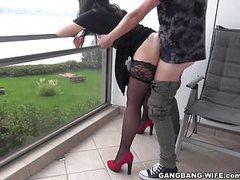 Naughty wife pissed on by some guys on the balcony, MILF, HD Videos, Balcony, Rough Sex, See Through, Naughty Wife, Naughty, New to, Gangbang Wife Channel, Pissing, Guys Wife movies at freekilosex.com