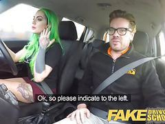 Fake driving school – wild ride for tattooed busty beauty, Amateur, Blowjob, Big Boobs, British, HD Videos, School, Big Tits, Online, Driving, Wild, Beauties, Tattooed, Busty Beauties, Wild Ride, Taxi, Fake Driving School, Busty, Ride, Fake, Driving videos