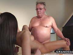 Horny hr girls fucks this grandpa during the interview, Interview, Horny Girls, Granddadz, Horny movies at freekilosex.com