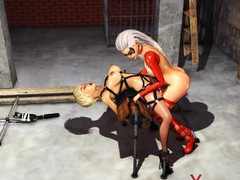 Hot 3d dickgirl bangs sexy  cuffed blonde, 3D Porn videos