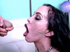 Latina piss slut gags deep on a hard cock, Hardcore, Latina, Fetish, Piss Drinking, Pissing, Big Tits, Fake Tits, Face Fucking, Rough, Deepthroat movies at freekilosex.com