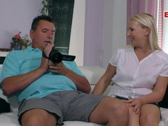 German blonde housewife try porn, Couple, Hardcore, Blondes, Long Hair, Bra, Natural Tits, Blowjob, Missionary, Doggystyle, Cowgirl, Chubby, MILF, Housewife, German videos