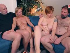 German amateur swinger couple party, Mature, German, Swingers videos