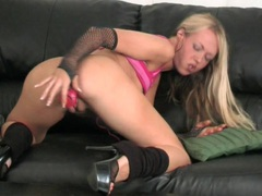 Sweet blonde girl alysha leigh loves poking her pussy with a dildo, Solo Models, Masturbation, British, Long Hair, Pussy, Shaved Pussy, Toys, Small Tits, Skinny movies