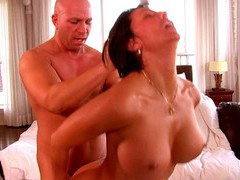 Chubby wife missy gold enjoys getting fucked on the table, Couple, Hardcore, Pornstars, MILF, Brunettes, Big Tits, Fake Tits, Shorts, Doggystyle, Missionary, Cowgirl videos