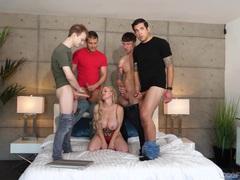 Busty blonde babe casca akashova enjoys sucking lot of hard cocks, Hardcore, Gangbang, Pornstars, MILF, Long Hair, Lingerie, Big Tits, Fake Tits, Handjob, Blowjob, Cum In Mouth, Cumshot videos