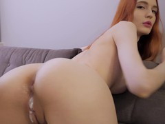 Adorable redhead girlfriend with a hot ass gets a creampie ending, HD POV, Couple, Hardcore, Redhead, Blowjob, Handjob, Big Tits, Natural Tits, Cowgirl, Doggystyle, Hot Ass, Creampie, Cumshot videos