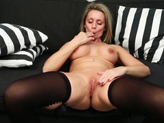 Foxy mature queenie spreads her legs to finger her wet pussy, Solo Models, Masturbation, MILF, Lingerie, Stockings, Nylon, Big Tits, Fake Tits, Pussy, Shaved Pussy tubes