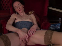 Foxy mature stacey robinson in lingerie and nylon stockings, Mature videos