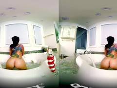Hot ass milf gives head and rides a large dick in vr porn video, Couple, Hardcore, Pornstars, MILF, Brunettes, Long Hair, Toys, Tattoo, Big Tits, Fake Tits, Blowjob, Cowgirl, Bath videos
