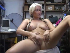Sweet blonde girl krystal niles spreads her legs to masturbate, Solo Models, Masturbation, Pigtails, Long Hair, Big Tits, Natural Tits, Pussy, Shaved Pussy, Office, British videos