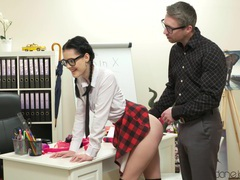 Hot ass college girl lifts her miniskirt to be fucked by her tutor, Couple, Hardcore, Brunettes, Pigtails, Long Hair, Miniskirt, Hot Ass, Glasses, Blowjob, Socks, Missionary, Pussy, Shaved Pussy, Bra, Cowgirl, Cumshot, Facial, Teachers, HD Teen movies at find-best-panties.com