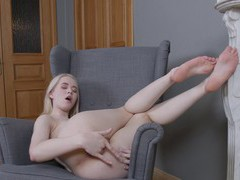 Sweet blonde amateur clockwork viktoria opens her legs to play, Solo Models, Masturbation, Russian, HD Teen, Blondes, Shorts, Natural Tits, Fingering, Pussy, Shaved Pussy movies at kilovideos.com